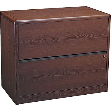 HON® 10700 Series 2-Drawer Lateral File, Mahogany