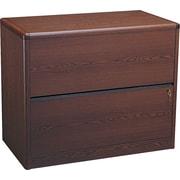 HON® 10700 Series 2-Drawer Lateral File, Mahogany