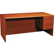 "HON® 10700 Series 66"" Right Single Pedestal Desk, Henna Cherry"