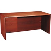 HON® 10700 Series 66 Left Single Pedestal Desk, Henna Cherry