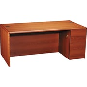HON® 10700 Series Full-Height Right Pedestal Desk, Henna Cherry