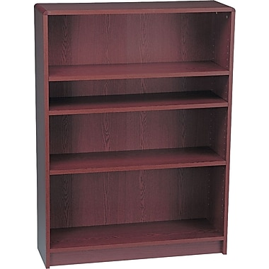 HON Radius Edge Laminate 48in.H, 4-Shelf Bookcase, Mahogany