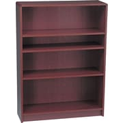 HON® Radius Edge Laminate 48H, 4-Shelf Bookcase, Mahogany