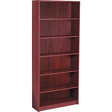 HON Radius Edge Laminate 84in.H, 6-Shelf Bookcase, Mahogany