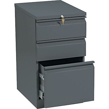 HON Brigade 3 Drawer Mobile/Pedestal File, Charcoal,Letter, 15''W (H33720RS)