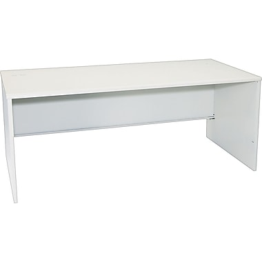 HON 38000 Series 72in. Desk Shell, Light Gray/Light Gray