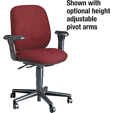 HON 7700 Series Multi-Task Armless Chair, Olefin Upholstery, Burgundy