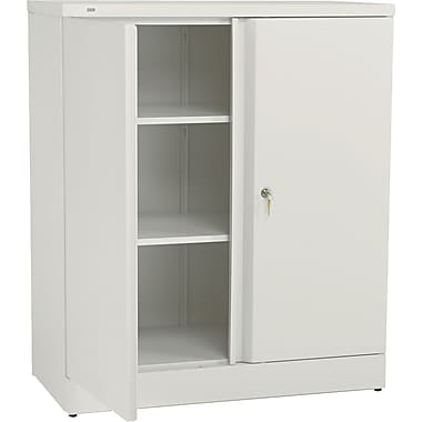 basyx™ by HON Easy-to-Assemble 42in. High, 3- Shelf Storage Cabinet, Putty