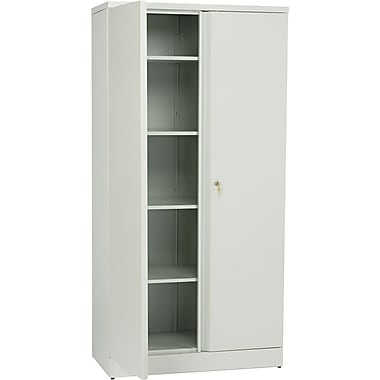 basyx™ by HON Easy-to-Assemble 72in. High, 5- Shelf Storage Cabinet, Light Gray