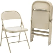 HON® HFC01 Steel Folding Chair, Light Beige, 4/Carton (HONFC01LBG)