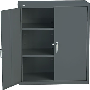 HON® Brigade, 3-Shelf Assembled Storage Cabinets, 42in.H x 36in.W x 18in.D, Charcoal