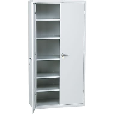 HON® Brigade, 6-Shelf Assembled Storage Cabinets, 72in.H x 36in.W x 18in., Light Gray