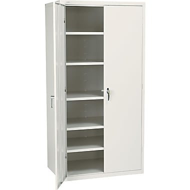 Hon® Brigade, 6-Shelf Assembled Storage Cabinets, 72in.H x 36in.W x 24in.D, Putty