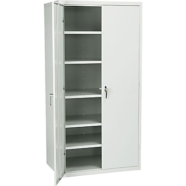 Hon® Brigade, 6-Shelf Assembled Storage Cabinets, 72in.H x 36in.W x 24in.D, Light Gray
