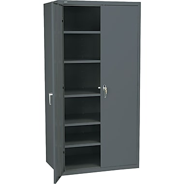 Hon® Brigade, 6-Shelf Assembled Storage Cabinets, 72in.H x 36in.W x 24in.D, Charcoal