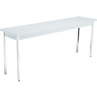 HON 6' Non-Folding Laminate Utility Table, Gray/Gray, 18in.W