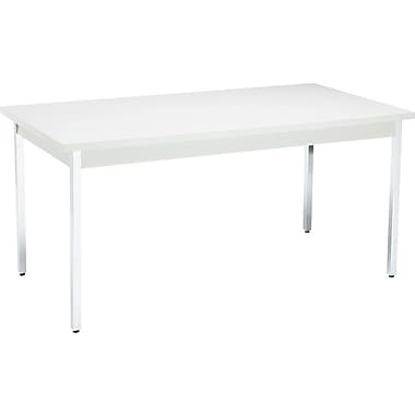 HON 5' Non-Folding Laminate Utility Table, Gray/Gray, 30in.W
