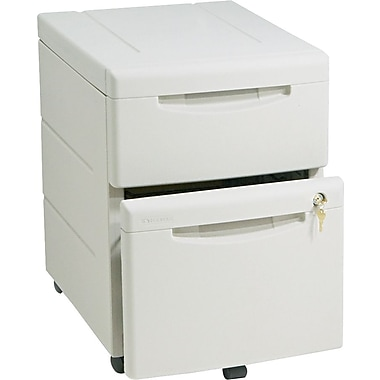 Iceberg Workmanager Front Mobile Underdesk Pedestal Files 2 Drawers, Platinum