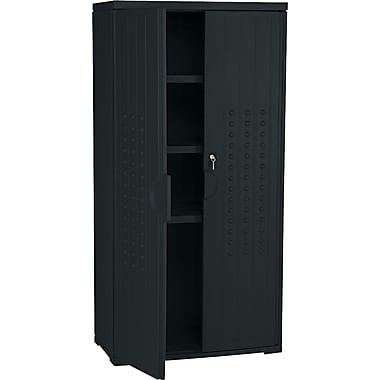 Iceberg Resinite Storage Cabinet, Black, 66in.H x 33in.W x 18in.D