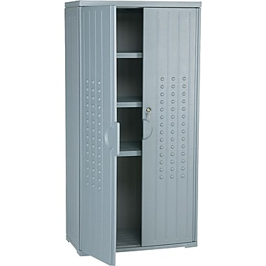 Iceberg Resinite Storage Cabinet, Charcoal, 66