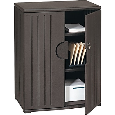 Iceberg Resinite Storage Cabinet, Black, 46in.H x 36in.W x 22in.D