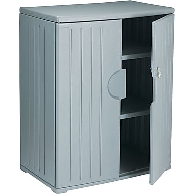 Iceberg Resinite Storage Cabinet, Charcoal, 46