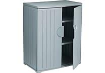 Iceberg Resinite Storage Cabinet, Charcoal, 46'H x 36'W x 22'D