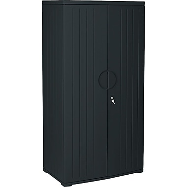 Iceberg Resinite Storage Cabinet, Black, 72in.H x 36in.W x 22in.D