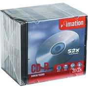 Imation 20/Pack CD-R, Slim Jewel Cases