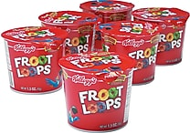 Kellogg's® Froot Loops® Breakfast Cereal, 1.5 oz. Cups, 6 Cups/Box
