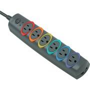 Kensington SmartSockets® Premium Strip Surge Protector, 6-Outlet, 520 Joules