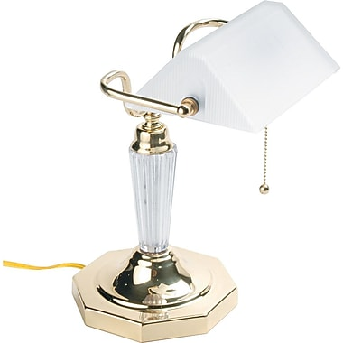 Ledu Executive Banker's Incandescent Desk Lamp, Brass