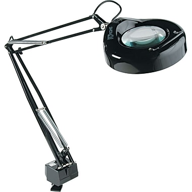 Ledu Professional Fluorescent Clamp-On Magnifying Lamp, Black