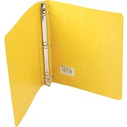 "Wilson Jones PRESSTEX® Ring Binder, Yellow, 220 Sheet Capacity, 1"" (Ring Diameter), 8 1/2"" x 11"""