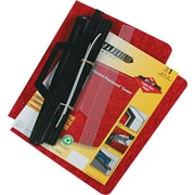 Red Pressboard Expandable Hanging Letter-Size Data Binder