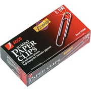 "ACCO, Premium Jumbo Paper Clips, Smooth Finish, Jumbo Size 1-7/8"", 100/Box (72500)"