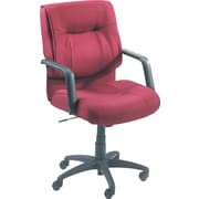 Alera® Stratus Series Mid-Back Swivel/Tilt Chair, Burgundy