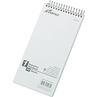 Ampad Greencycle Reporters Notebook, 4in. x 8in.