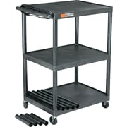 Adjustable-Height AV Cart, Black