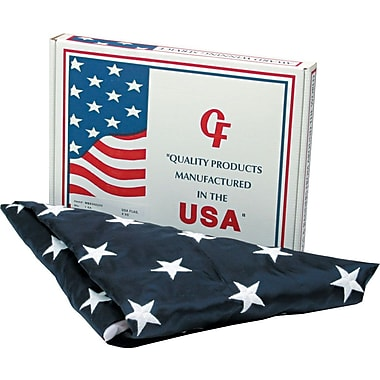 Advantus Outdoor U.S. Flag, White Canvas, 4' x 6'