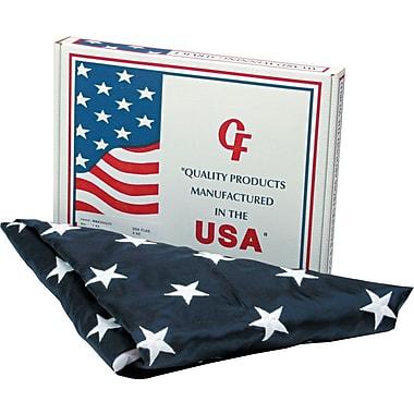 Advantus Outdoor U.S. Flag, White Canvas, 4' x 6'