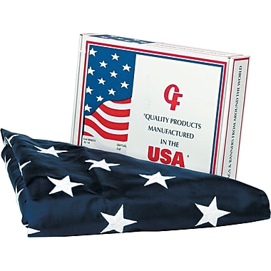 Advantus Outdoor U.S. Flag, White Canvas, 5' x 8'