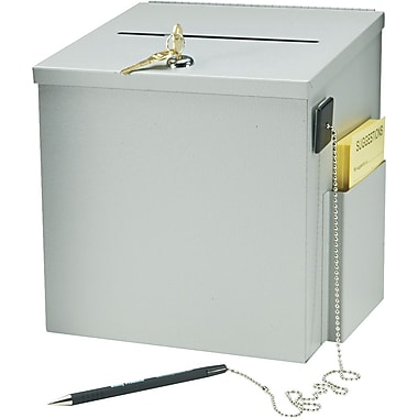 Steel Suggestion Box, Platinum Finish