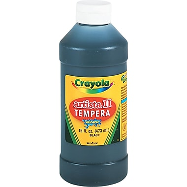 Crayola® Artista II Washable Tempera Paint, Black, 16 oz