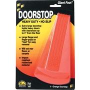 Master Caster Door Stop, Large Neon Orange