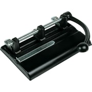 Master Products 40-Sheet Lever Action Two-to-Seven-Hole Manual Punch, Black