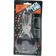 Punchline Medium-Duty 1-Hole Diamond Shape Punch, 15 Sheets/20 lb., Black/Silver