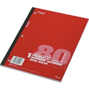 "Wireless Neatbook® Single-Subject Wide Ruled Notebook, 10 1/2"" x 8"", 80 Sheets"