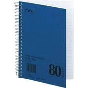 "Mead Single-Subject Mid Tier Notebook, 7"" x 5"", College Ruled, 80 Sheets/Book"