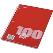 Mead Spiral 1-Subject Notebook, 8 1/2 x 11, College Ruled, 100 Sheets